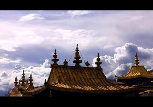 Templul Jokhang din Lhassa, capitala buddhismului tibetan