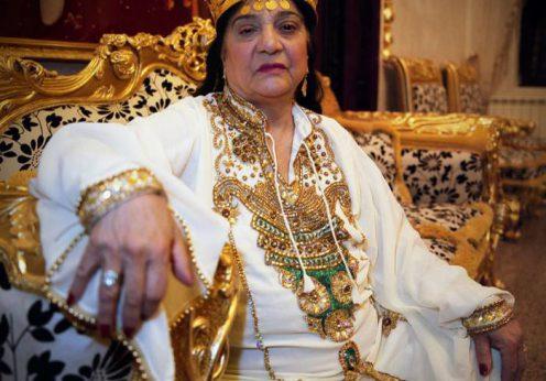 Maria Campina, regina Magiei Albe din Romania, in alb