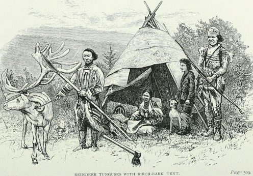 hrough_siberia-_1883-_reindeer_tunguses_with_birch-bark_tent