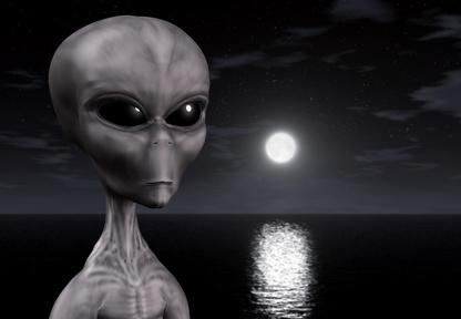 3D alien wallpaper
