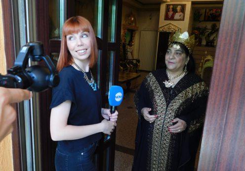 Maria Campina in ritual pentru tv Nova Bulgaria 22