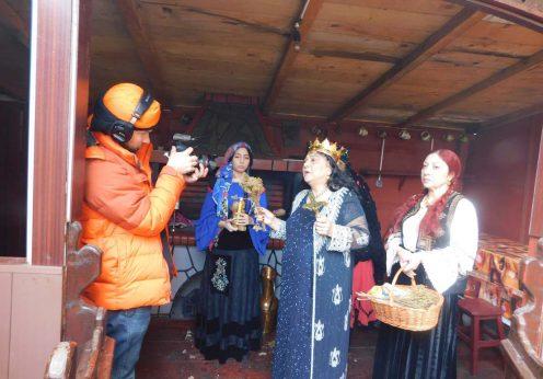 Maria Campina, regina Magiei Albe din Romania, la ritual pentru televiziunea din Rusia