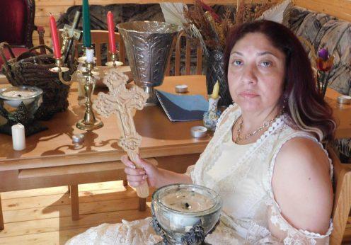 vrajitoarea Ioana Sidonia la ritual pentru tb Nova Bulgaria 2
